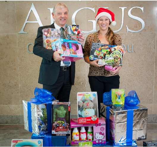 Argus Donates Toys to Toys for Tots
