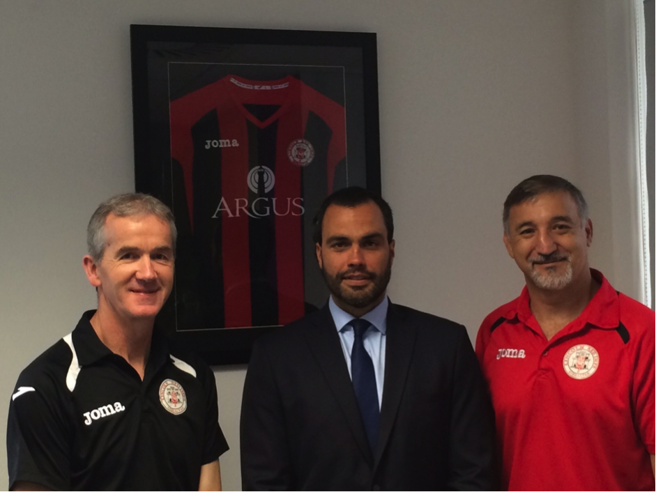 Argus and Westmed Insurance support grass roots football in Gibraltar banner