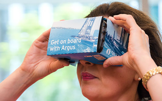 Argus Launches Virtual Reality Videos of  SoftBank Team Japan's America's Cup Journey