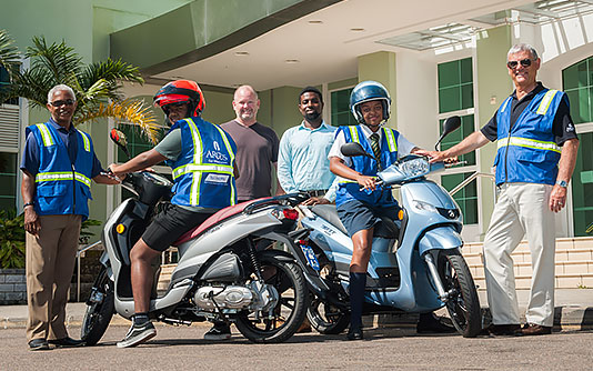 Argus Sponsors Two Motorbikes for Safe Riding Programme