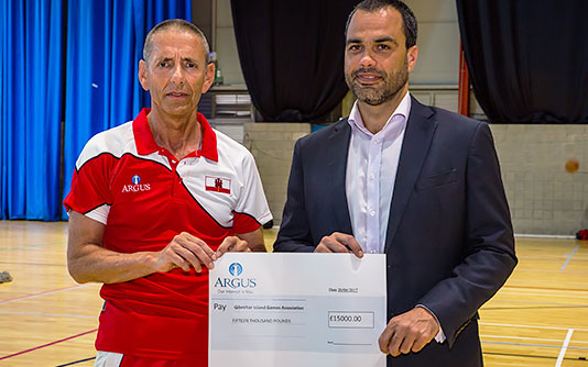 The Argus Group Sponsors Island Games XVlI Kits for Gotland Sweden banner
